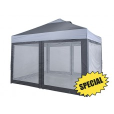 12'X10' LAWN & GARDEN SHELTER, GREY / CHARCOAL