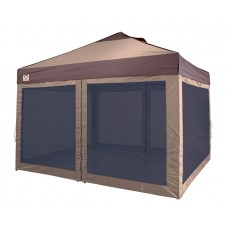 12' x 10' LAWN & GARDEN, TAN/BROWN WITH SCREENROOM & SKIRTS