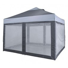 12'x10' LAWN & GARDEN SCREEN ROOM, 1 PIECE, CHARCOAL WITH GREY MESH