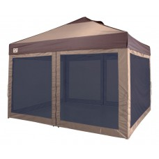 12'x10' LAWN & GARDEN SCREEN ROOM, 1 PIECE, TAN WITH BLACK MESH