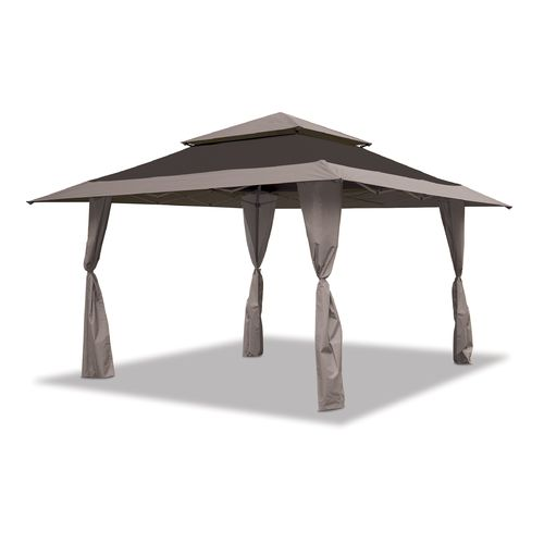 Gazebo 13 Auto Extend Top 150d Light Charcoal And Black