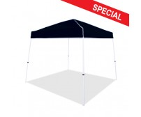 10' x 10' Instant Canopy, Boltless White Frame, Black Top