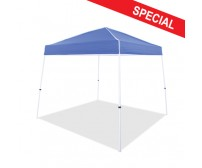 10' x 10' Instant Canopy, Boltless White Frame, Blue Top